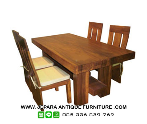 set-meja-kursi-makan-antik