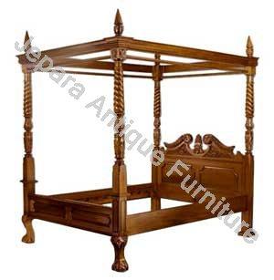 Tempat Tidur Jati Model Canopy