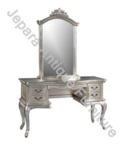 Furniture Duco Tolet Meja Rias Silver