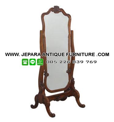 Model Cermin Jati Klasik