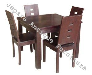 Furniture Restoran Set Meja Makan Kayu Jati