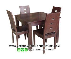Furniture Restoran Set Meja Makan Kayu Jati