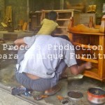 Finishing Furniture Kayu Jepara Model Traditional Frech Wax
