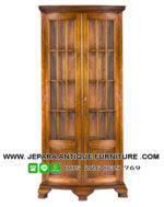Furniture Jepara Lemari Sudut Kayu Jati