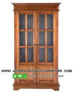 Furniture Klasik Lemari Buku Kayu Jati