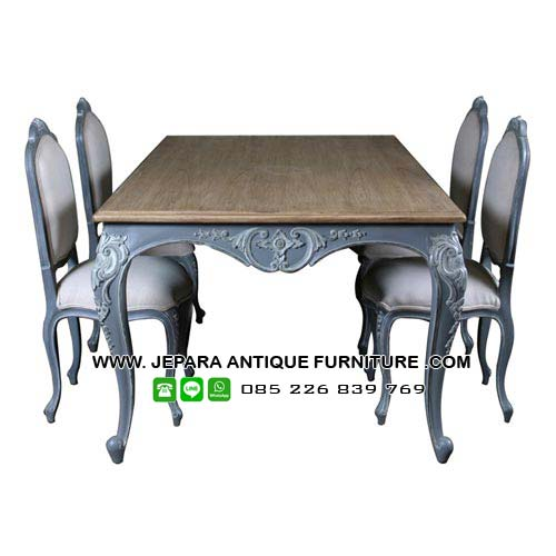 French Furniture Set Meja Kursi Makan