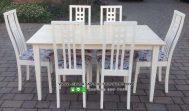 Meja Kursi Makan Minimalis Cat Duco Putih