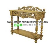 Model Furniture Mewah Meja Dinding Ukiran