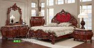 Set Tempat Tidur Mewah Kayu Jati Model Klasik