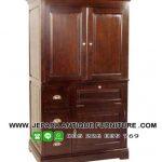 Furniture Jati Lemari Pakaian 2 Pintu