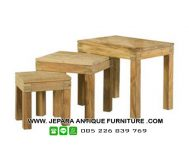 Model Set Stool Kayu Jati Minimalis