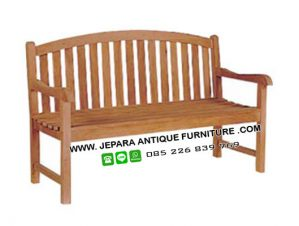 Bangku Taman Minimalis kayu Jati Jepara