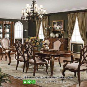 Model Kursi dan Meja Makan Mewah Klasik